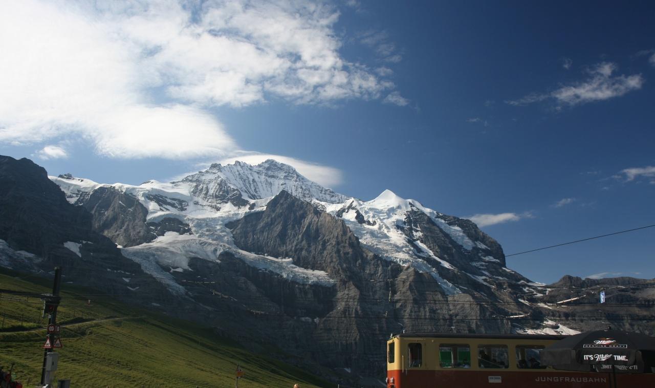 Jungfraù - Jungfraujoch la stazione ferroviaria più alta d'Europa 3454 m.