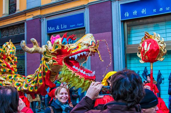 Capodanno cinese in via Paolo Sarpi a Milano. 2013